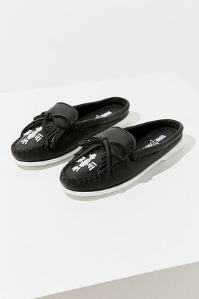 Rubber Sole Casual Style Collaboration Plain Leather