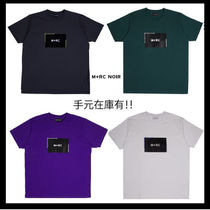 MRC NOIR Crew Neck Unisex Street Style Cotton Short Sleeves