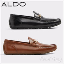 ALDO Driving Shoes Plain Leather U Tips Loafers & Slip-ons