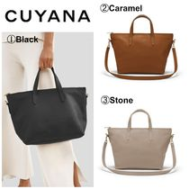 CUYANA Casual Style 2WAY Plain Leather Totes