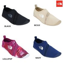 THE NORTH FACE Faux Fur Street Style Plain Bold Loafers & Slip-ons