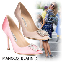 eac3940dc7d Manolo Blahnik Plain Pin Heels Party Style With Jewels