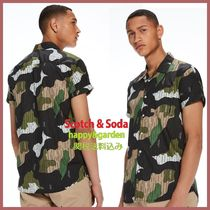 Scotch & Soda Camouflage Short Sleeves Shirts