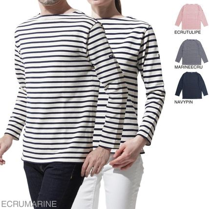 Boat Neck Long Sleeves Cotton Long Sleeve T-Shirts