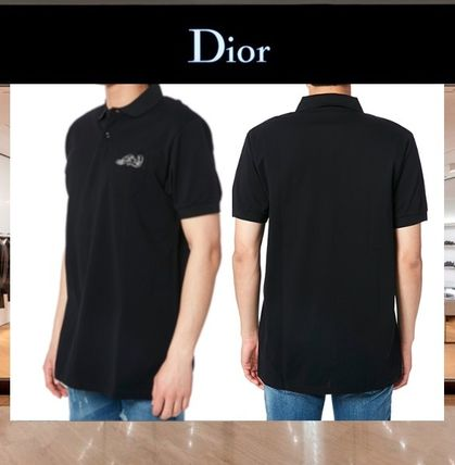 DIOR HOMME Polos Cotton Short Sleeves Polos