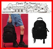 OPEN THE DOOR Unisex Street Style A4 Backpacks