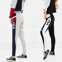FILA Printed Pants Casual Style Street Style Cotton Long Bottoms