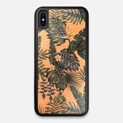 Tropical Patterns Unisex Handmade Made of Wood