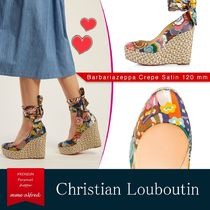 Christian Louboutin Tropical Patterns Round Toe Studded Leather With Jewels