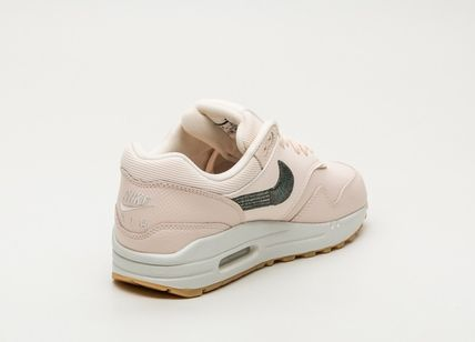 Nike AIR MAX 1 2018 19AW Casual Style Street Style Plain Leather Low Top Sneakers (454746 800)
