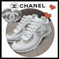 CHANEL SPORTS Wedge Casual Style Blended Fabrics Bi-color Plain