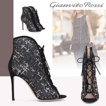 Gianvito Rossi Suede Plain Pin Heels High Heel Boots