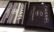 CHANEL DEAUVILLE Unisex Canvas A4 Clutches