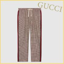 GUCCI Glen Patterns Other Check Patterns Unisex Wool Street Style