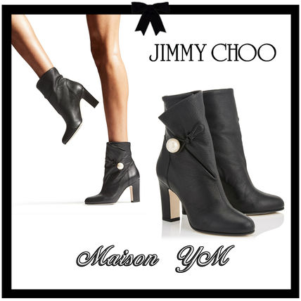 7ab50bac6755 Jimmy Choo 2018-19AW Plain Leather High Heel Boots (BETHANIE 85 GNL -  BLACK) by MaisonYM116 - BUYMA