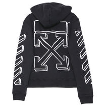 Off-White Pullovers Street Style Long Sleeves Cotton Oversized Hoodies