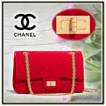 CHANEL 3WAY Chain Plain Elegant Style Shoulder Bags