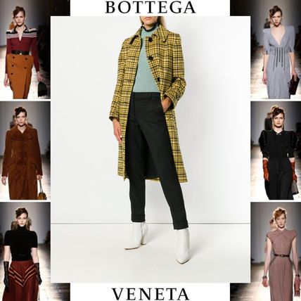 Other Check Patterns Wool Elegant Style Coats