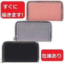 Stella McCartney FALABELLA Plain Leather Long Wallets