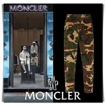 MONCLER Printed Pants Camouflage Street Style Cotton Patterned Pants
