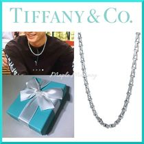 Tiffany & Co Tiffany T Unisex Chain Plain Silver Necklaces & Chokers