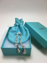 Tiffany & Co Tiffany T Unisex Chain Plain Silver Bracelets