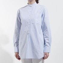 CELINE Long Sleeves Cotton Long Elegant Style Shirts & Blouses