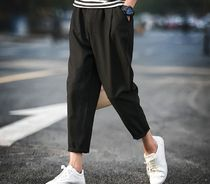 Street Style Plain Cropped Pants