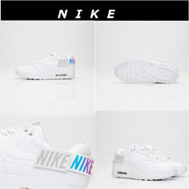 Nike AIR MAX Platform Plain Toe Casual Style Street Style Plain Leather