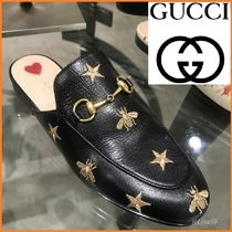 GUCCI Star Unisex Other Animal Patterns Leather Loafers & Slip-ons