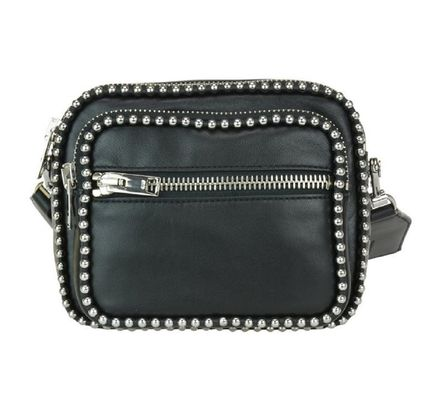 Casual Style Lambskin Studded 2WAY Shoulder Bags