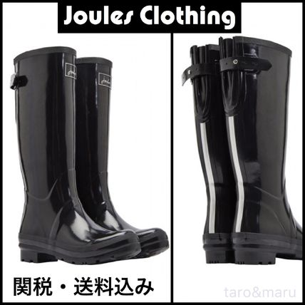 Rubber Sole Plain Mid Heel Boots