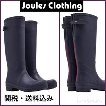 Joules Clothing Other Check Patterns Rubber Sole Plain Mid Heel Boots