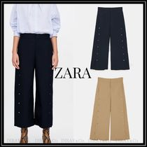 ZARA Casual Style Plain Cotton Culottes & Gaucho Pants