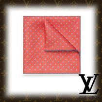 Louis Vuitton MONOGRAM Flower Patterns Monogram Silk Handkerchief