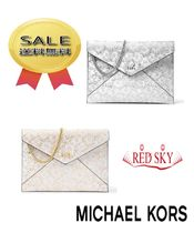 Michael Kors Flower Patterns Casual Style Leather Purses Clutches
