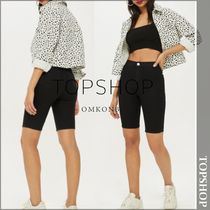 TOPSHOP Short Denim Plain Denim & Cotton Shorts
