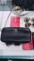 CHANEL ICON Bag in Bag Chain Plain Leather Shoulder Bags