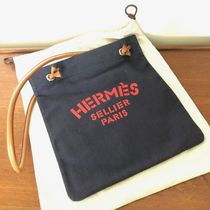 HERMES Aline Canvas Plain Shoulder Bags