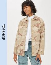 TOPSHOP Camouflage Casual Style Long Sleeves Shirts & Blouses