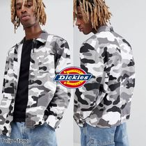 Dickies Button-down Camouflage Street Style Long Sleeves Cotton