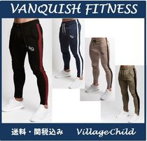 VANQUISH FITNESS Tapered Pants Street Style Bi-color Plain Tapered Pants