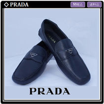 PRADA Moccasin Leather Loafers & Slip-ons