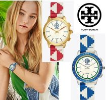 Tory Burch Casual Style Round Mechanical Watch Digital Watches