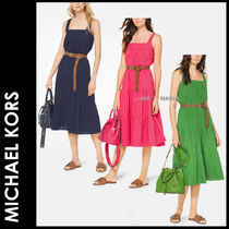 Michael Kors Sleeveless Flared Plain Cotton Medium Home Party Ideas
