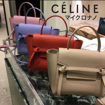 CELINE Belt Calfskin 3WAY Plain Shoulder Bags