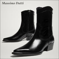 Massimo Dutti Leather Ankle & Booties Boots