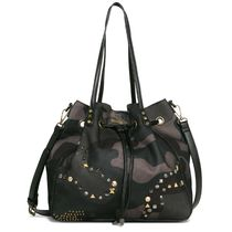 Desigual Camouflage Casual Style Totes