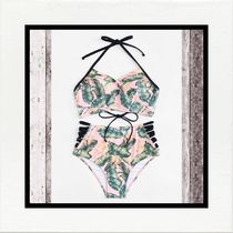 Flower Patterns Tropical Patterns Halter Beach Cover-Ups