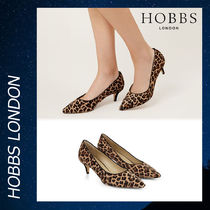 Hobbs London Leopard Patterns Elegant Style Kitten Heel Pumps & Mules